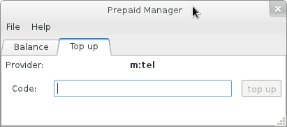 GNOME Prepaid Manager Applet